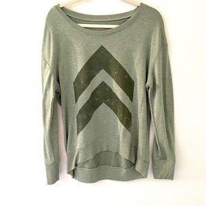 Army Green Graphic Sweatshirt
